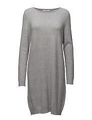 VIRIL L/S KNIT DRESS-NOOS - LIGHT GREY MELANGE