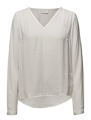 VICAVA L/S V-NECK TOP-NOOS - CLOUD DANCER