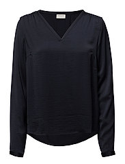 VICAVA L/S V-NECK TOP-NOOS - TOTAL ECLIPSE