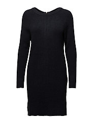 VISIA L/S KNIT DRESS - DARK NAVY