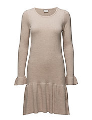 VIVICKA L/S KNIT DRESS/GV - PEACH WHIP