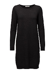 VIRIL L/S KNIT DRESS-FAV - DARK GREY MELANGE