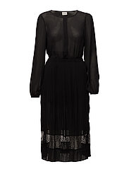 VISTELLA L/S DRESS/DC - BLACK