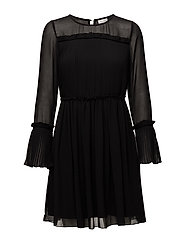 VIVESPER L/S DRESS/P/GV - BLACK