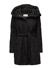 VICAMA NEW WOOL COAT-NOOS - BLACK