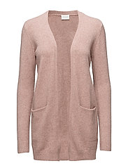 VIRIL L/S  OPEN KNIT CARDIGAN-NOOS - ASH ROSE