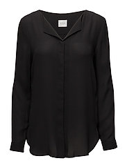 VILUCY L/S SHIRT - - BLACK