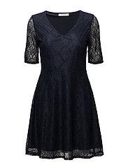 VIFREJ 2/4 SHORT DRESS - TOTAL ECLIPSE