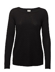 VISARAFINA KNIT TOP - NOOS - BLACK