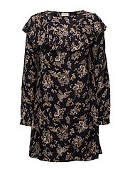 VIBETH L/S SLEEVE DRESS - TOTAL ECLIPSE