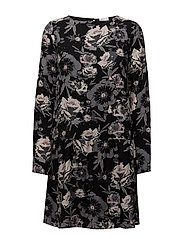 VIASTHA L/S DRESS - BLACK