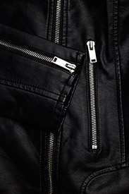 Vila - VICARA COATED JACKET/SU - NOOS - leather jackets - black - 4