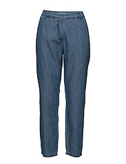 VILIAMA 7/8 STRAIGHT PANT - MEDIUM BLUE DENIM
