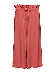 VIAMALY  HW CROPPED PANT - SPICED CORAL