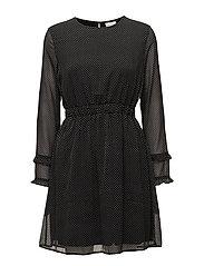 VIDOTLY L/S DRESS - BLACK