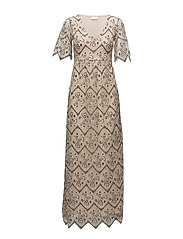 VILAWA LACE MAXI DRESS/DC - SHIFTING SAND