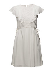 VISALMA S/S DRESS - CLOUD DANCER