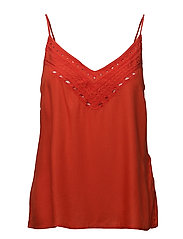 VINIDA NEW EMBROIDERY STRAP TOP - ORANGE.COM
