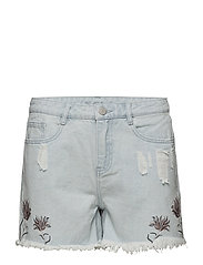 VIMAKKAS RW PATCH SHORTS - LIGHT BLUE DENIM