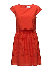 VISIMMI CAPSLEEVE DRESS - ORANGE.COM