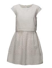 VISIMMI CAPSLEEVE DRESS - SNOW WHITE