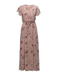 VISAFFA NANDI S/S MAXI DRESS - ADOBE ROSE