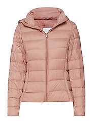 VIMANYA LIGHT DOWN SHORT JACKET-NOOS - ASH ROSE