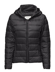 VIMANYA LIGHT DOWN SHORT JACKET-NOOS - BLACK