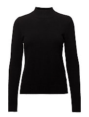 VIRIL L/S TURTLENECK KNIT TOP-NOOS - BLACK
