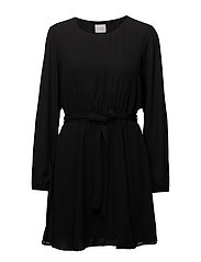 VILUCY L/S DRESS-NOOS - BLACK