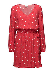 VIESTO DOTINAS L/S  DRESS/PB - TOMATO PUREE