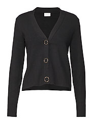 VIOLIVENA KNIT V-NECK L/S CARDIGAN - BLACK