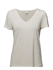 VINOEL S/S V-NECK T-SHIRT-NOOS - CLOUD DANCER