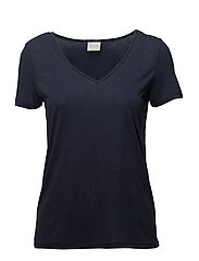 VINOEL S/S V-NECK T-SHIRT-NOOS - TOTAL ECLIPSE