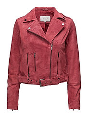 VIFAITH SUEDE JACKET - EARTH RED
