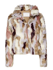 VIVERIA FAUX FUR JACKET - SANDSHELL