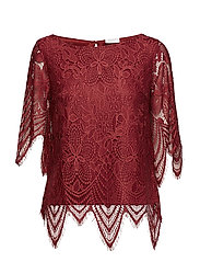 VISUSSI 2/4 SLEEVE TOP - EARTH RED
