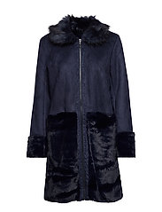 VILONIA FAUX SHERLING JACKET - TOTAL ECLIPSE