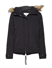 VITRUST SHORT PARKA JACKET - BLACK
