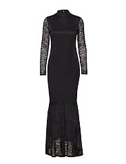 VIRIGMOR L/S MAXI DRESS - BLACK