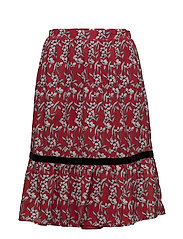 VIRAKEL MIDI SKIRT - RACING RED