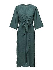 VILIVA 3/4 SLEEVE DRESS - BAYBERRY