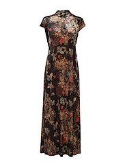 VIGILLA CAP SLEEVE DRESS - BLACK