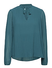 VISLET L/S PLISSE TOP - BAYBERRY