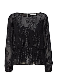 VIOLIANE L/S TOP - BLACK