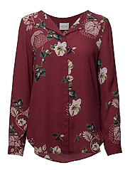 VILUCY L/S SHIRT - FAV LUX - EARTH RED