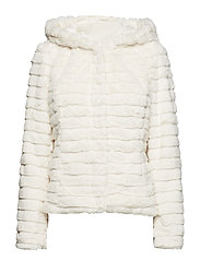 VIMAYA FAUX FUR JACKET/1 - CLOUD DANCER