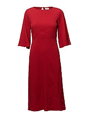 VIBLAME 2/4 SLEEVE DRESS - RACING RED