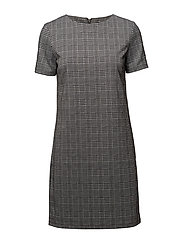 VIASTEL S/S DRESS - MEDIUM GREY MELANGE