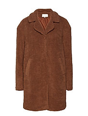 VIFAIRA FAUX TEDDY COAT - TORTOISE SHELL